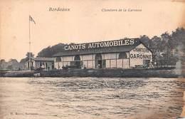 BORDEAUX - Chantiers De La Garonne - Canots Automobiles - RARE - Bordeaux - Bordeaux