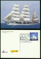 AX Sailing (school) Ship 'Gorch Fock', German Federal Navy | Special Cancel Rostock Hanse Sail 7.8.2008 - Voiliers
