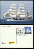 AX Sailing (school) Ship 'Gorch Fock', German Federal Navy | Special Cancel Rostock Hanse Sail 7.8.2008 - Velieri