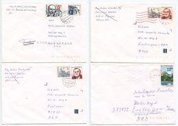 Slovakia 1990's 4 Covers Poprad, Sarisske Michalany & Sabinov To Esslingen Germany - Slowakije