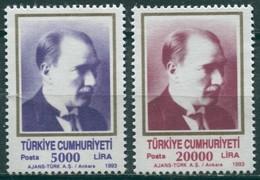 Turquie - 1993 - Yt 2748/2749 - Série Courante - Portraits D'Atatürk - ** - Nuevos