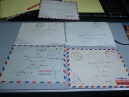 5 ENVELOPPES CACHET POSTAL DIVERS VILLES D'ALGERIE 1956/1958 + 1 CARTE POSTALE GUERRE D'ALGERIE - Unclassified