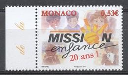 TIMBRE - MONACO - 2011 - Nr 2764 - Mission Enfance - Neuf - Monaco
