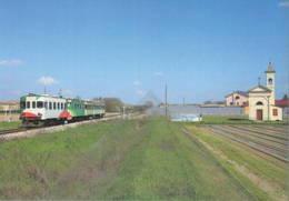 601 ALn 668.612 Fiat Brescello Reggio Emilia Rairoad Treain Railweys Treni Rotabili - Stations With Trains