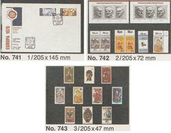 SAFE – Lot De 45 Cartes à Bandes Pour Timbres - Références 741 + 742 + 743 - Neuves (Lot 299) - Approval (stock) Cards