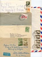 Yugoslavia 1950's-70's 5 Covers To Ann Arbor MI, Mix Of Stamps & Postmarks - 1945-1992 Socialist Federal Republic Of Yugoslavia