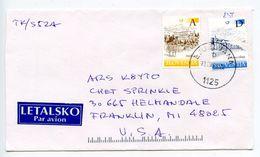 Slovenia 2003 Airmail Cover Ljubljana To Franklin MI, Scott 404 & 414 Castles - Slovenia