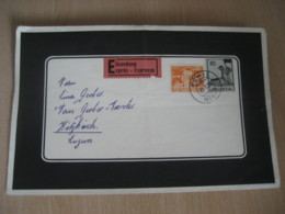 BOWIL 1954 To Luzern 2 Stamp On Cancel Condolence Duel EXPRESS Cover SWITZERLAND - Cartas