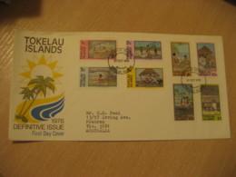 NUKUNONU 1976 Fishing Canoe Carving Coconuts Meal ...  FDC Cancel Cover TOKELAU - Tokelau
