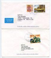 Serbia 2000's 2 Covers Vitoševac & Vitanovac To Franklin Michigan K8YTO - Serbia