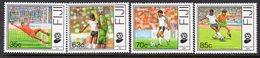 Fiji 1989 Football World Cup Set Of 4, MNH, SG 798/801 (BP2) - Fiji (1970-...)