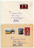 Poland 1980's 2 Covers Sosnowiec To Esslingen Germany, Scott 2936 B140-B141 B145 - 1944-.... Republic