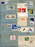 Poland 1970's-80's 12 Covers Gdansk & Sopot To Epinal France, Mix Of Stamps - 1944-.... Republic