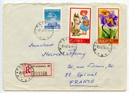 Poland 1974 Registered Cover Warsaw To Epinal France, Scott 1573 1575 1739 - 1944-.... Republic