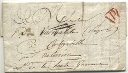 LAC 1817 Double Déboursé (Tarbes Et Trie à Sec) - Postmark Collection (Covers)