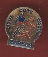 59313-Pin's.Echecs.jeux.ligue Cote D Azur.. - Games