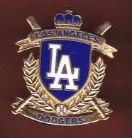 59324-Pin's.Les Dodgers De Los Angeles Sont Une Franchise De Baseball .signé 1980 By Peter David - Baseball