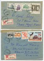 Poland 1969/1975 2 Registered Covers Sopot To Epinal & Thaon-les-Vosges, France - 1944-.... Republic
