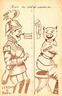 CPA Caricature Satirique Anti-Kaïser Guillaume II Russie Cochon Porc Pig Chiottes WC Scatologie  Illustrateur (2 Scans) - Illustrateurs & Photographes