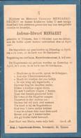 Tienen, Tirlemont, Tirlemont, Doodsprent Andreas-Edward Mensaert, 1921. - Décès