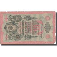 Billet, Russie, 10 Rubles, 1909, 1909, KM:11c, B+ - Russia