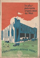 """Catalogue 1934-35 - Ets Ayrivié Frères Béziers """" Docks Méridionaux"""" - Publicités"""
