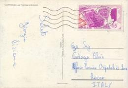 Tunisia Tunisie 1972 Picture Postcard To Italy With 65 M. Tunisia Day At Montreal Expo 67 - 1967 – Montreal (Kanada)