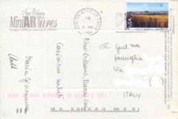 USA 2004 Picture Postcard To Italy With Airmail Stamp 70 C. Pre Columbian America The Nine Mile Prairie In Nebraska - Vegetazione