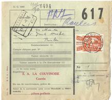 _9V-993: D.C.1985 +TR322: COUVIN __2__  > ROESELARE //___ N° 16 : Deels Geschrapte Letters.. - 1942-1951
