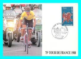 A745 / 167   75e TOUR DE France 1988 - Cyclisme - Marcophilie (Lettres)