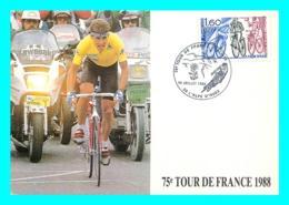 A745 / 169   75e TOUR DE France 1988 - Cyclisme - Marcophilie (Lettres)