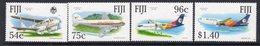 Fiji 1991 40th Anniversary Of Air Pacific Set Of 4, MNH, SG 839/42 (BP2) - Fiji (1970-...)