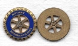 Jeton De Caddie  Doré  Association  ROTARY  INTERNATIONAL  Recto  Verso - Einkaufswagen-Chips (EKW)
