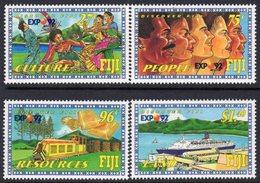 Fiji 1992 Expo '92 World Fair, Seville Set Of 4, MNH, SG 843/6 (BP2) - Fiji (1970-...)