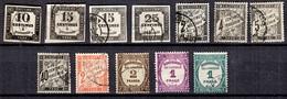 France Petite Collection De Timbres Taxe Anciens Oblitérés 1858/1931. Bonnes Valeurs. A Saisir! - 1859-1955 Gebraucht