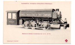 Lot 6-Locomotives Etrangères -Etats Unis - Machine De Mines à Condensateur-pliure - Trains