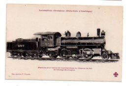Lot 6-Locomotives Etrangères -Etats Unis - Machine Pour Train De Marchandises De Chicago -Burlington - Trains