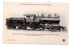 Lot 6-Locomotives Etrangères -Etats Unis - Compound De L'atkinson And Santa Fé Railway - Trains