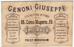 CARTONCINO - RICEVUTA - BIGLIETTO DA VISITA - GENONI GIUSEPPE - MILANO - 1895 - Vedi Retro - Cartoncini Da Visita
