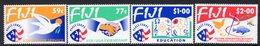Fiji 1993 Peace Corps Set Of 4, MNH, SG 866/9 (BP2) - Fiji (1970-...)