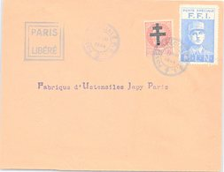FRANCE - LETTRE 25.8.1944 POSTE SPECIALE F.F.I    /2 - Liberation