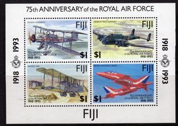 Fiji 1993 75th Anniversary Of The RAF MS, MNH, SG 877 (BP2) - Fiji (1970-...)