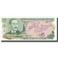 Billet, Costa Rica, 5 Colones, 1992, 1992-01-15, KM:236e, NEUF - Costa Rica