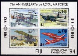 Fiji 1994 75th RAF Hong Kong Exhibition Overprint MS, MNH, SG 888 (BP2) - Fiji (1970-...)