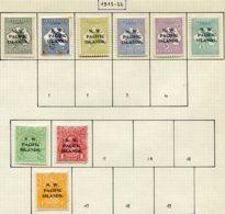 13395 NORD-OUEST PACIFIQUE Collection Vendue Par Page N°1/6, 11/2, 16 *  1915-22   B/TB - Australia