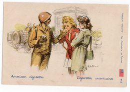 ILLUSTRATEUR G. DUTRINE *CIGARETTES AMERICAINES * Collection WELCOME * SOLDAT AMERICAIN GI - Autres Illustrateurs