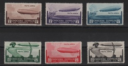 Cirenaica 1933 Zeppelin P.a. Serie Cpl MLH - Cirenaica