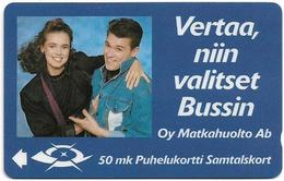 Finland (Sonera) - Oy Matkahuolto - 2FINA - MD05 - 05.1990, 11.000ex, Used - Finlande