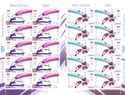 2019. Moldova, Second European Sport Games Minsk 2019, 2 Sheetlets, Mint/** - Moldavia