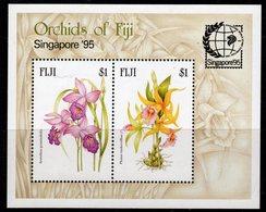 Fiji 1995 Orchids Singapore '95 Exhibition MS, MNH, SG 929 (BP2) - Fiji (1970-...)
